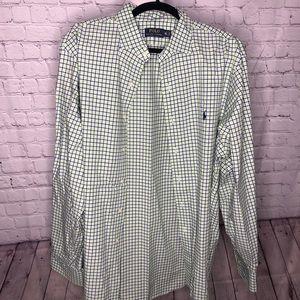 Men's Checkered Polo Button Down